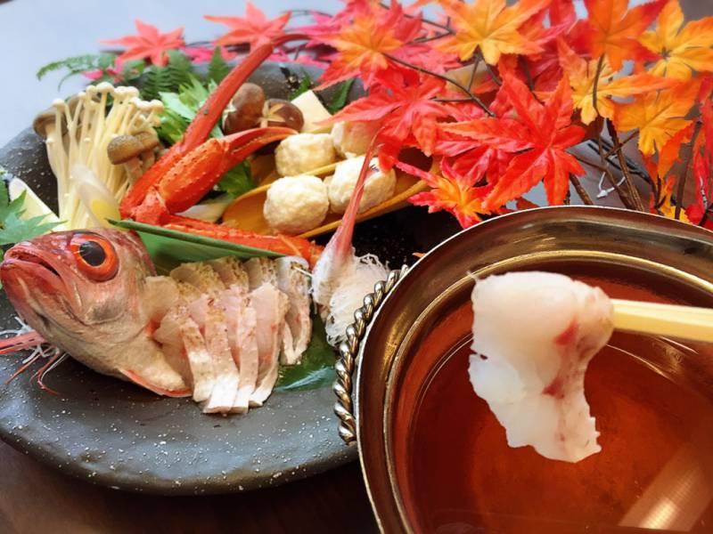 """旬の最高級魚""""のどぐろ""""しゃぶしゃぶ"""